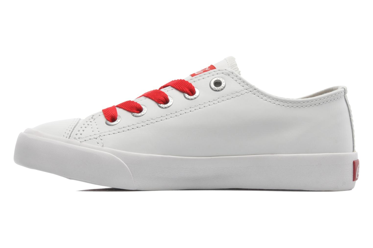 Plain leather Low White